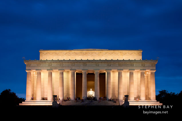 Lincoln memorial at night. Washington, D.C.
